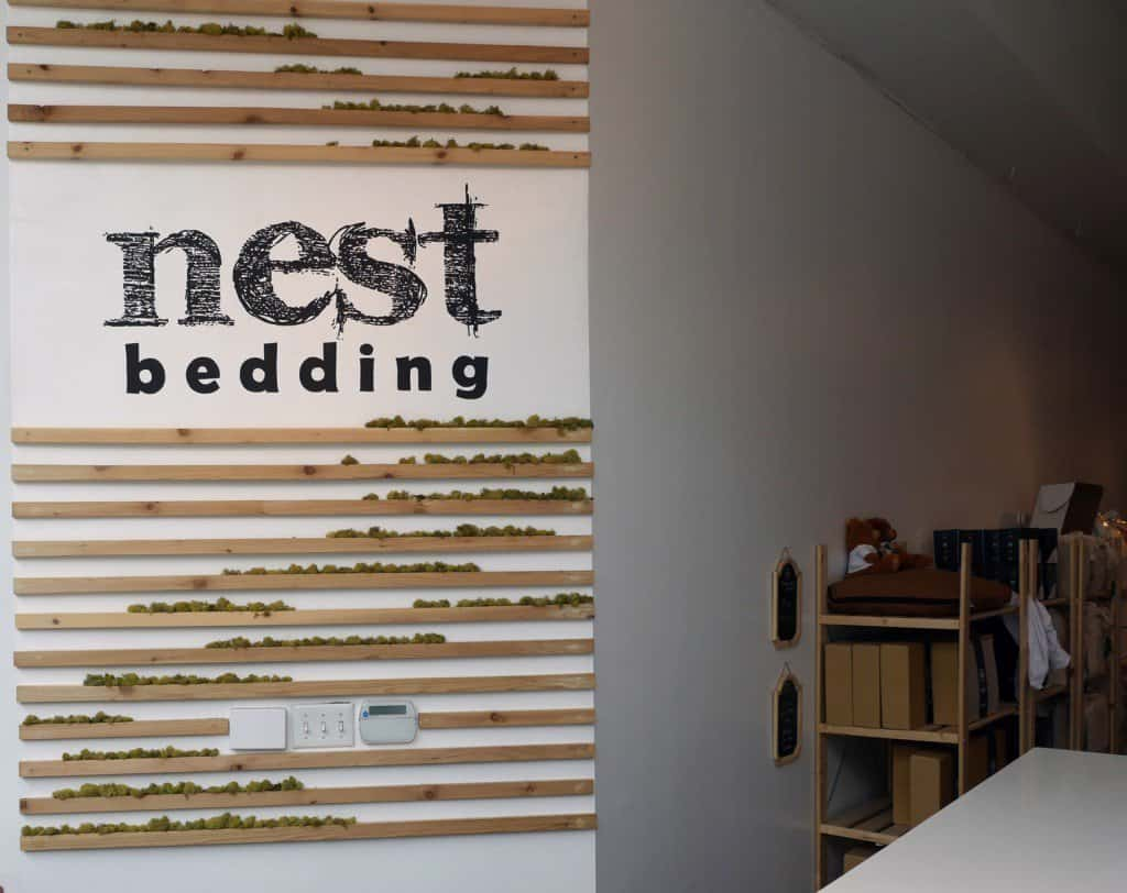 Entry of the Nest Bedding SoHo store