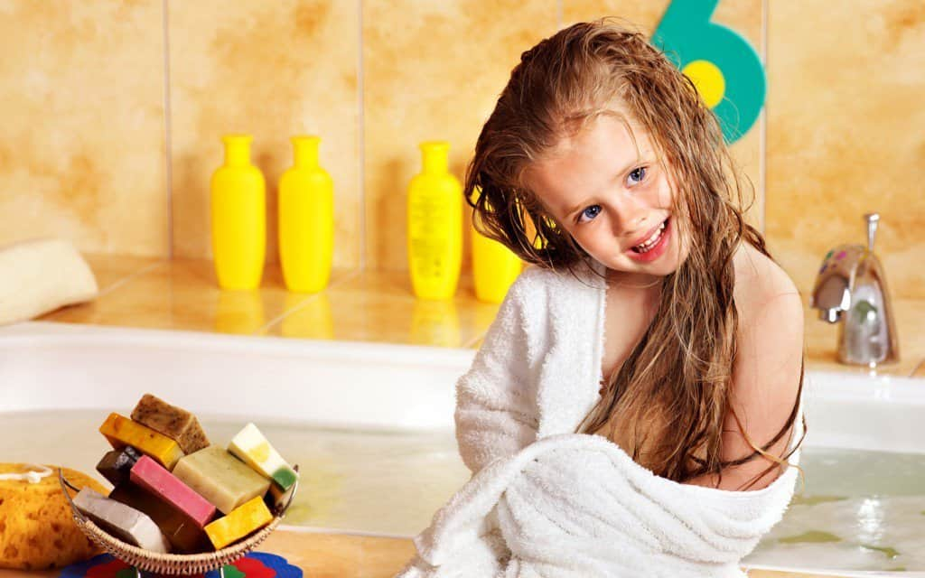 A warm bubble bath can make a great transition to help kids settle down and go to bed