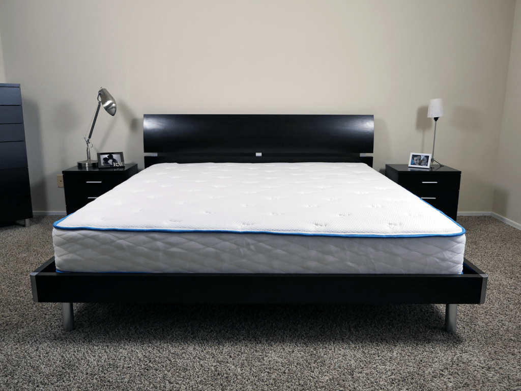 Arctic Dreams mattress, King size, platform bed