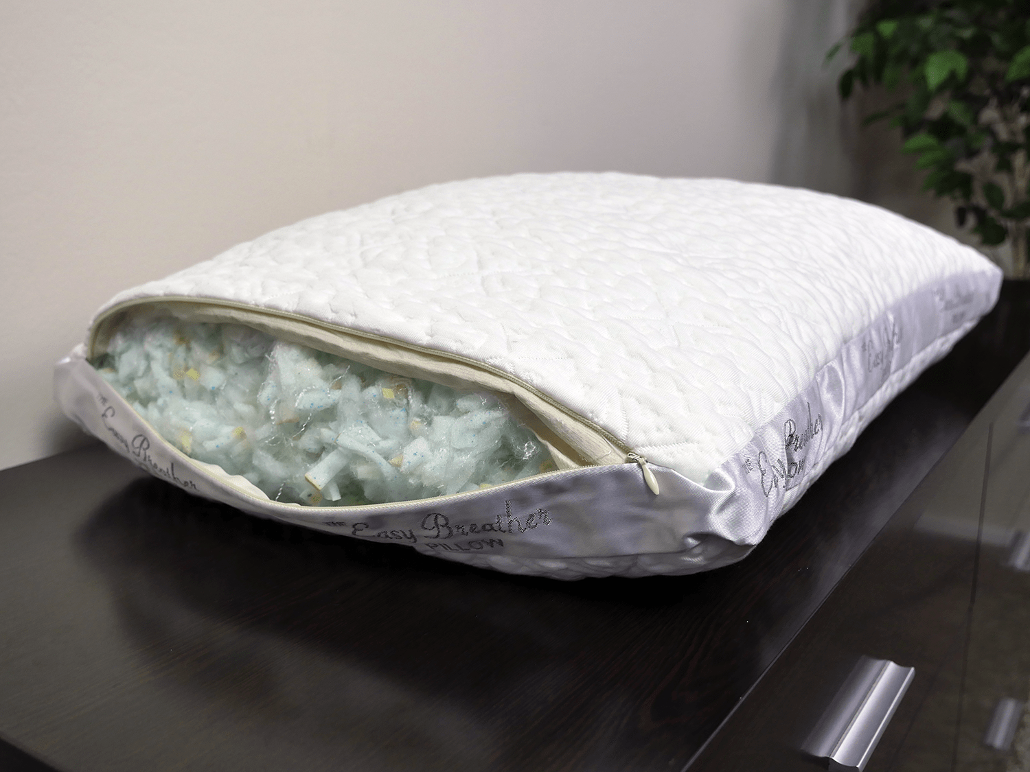 Easy Breather memory foam pillow construction