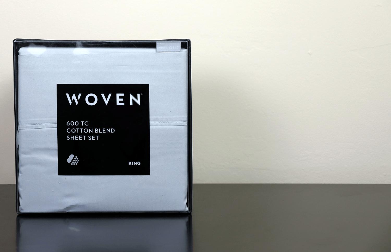 Woven cotton sheet set