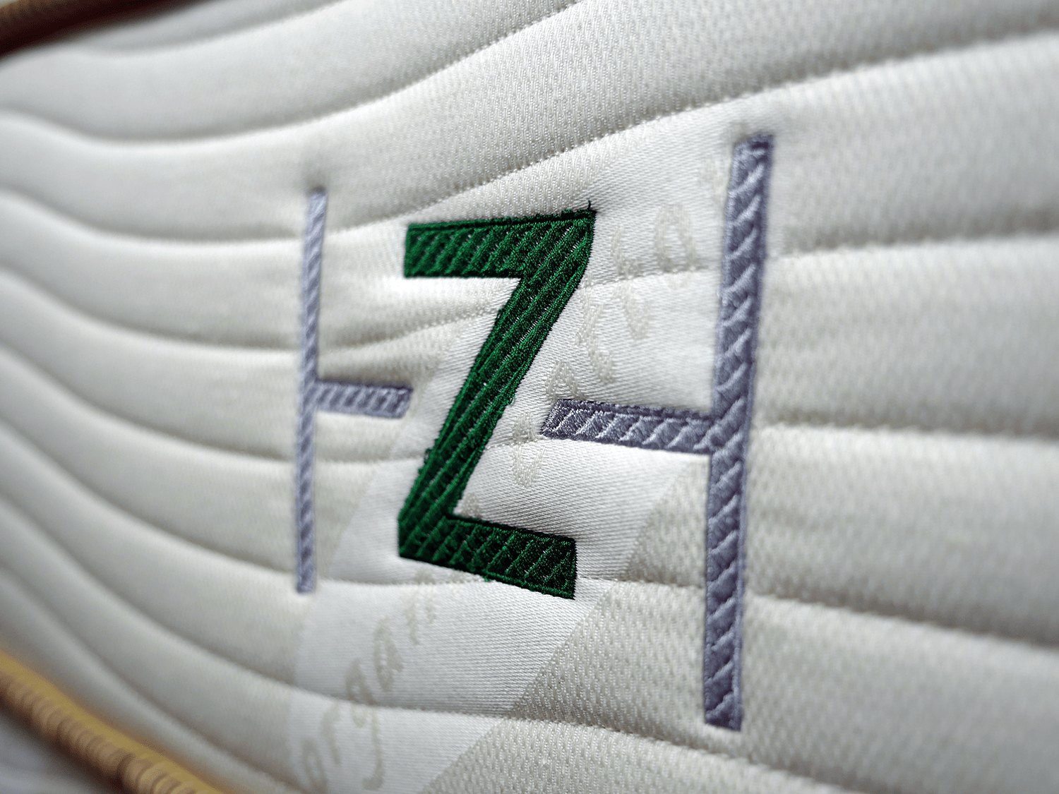 ZenHaven mattress logo stitched into a side panel