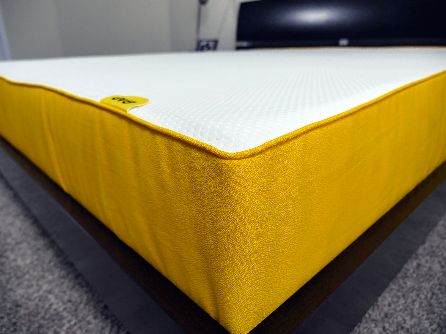 Close up of the Eve mattress cover