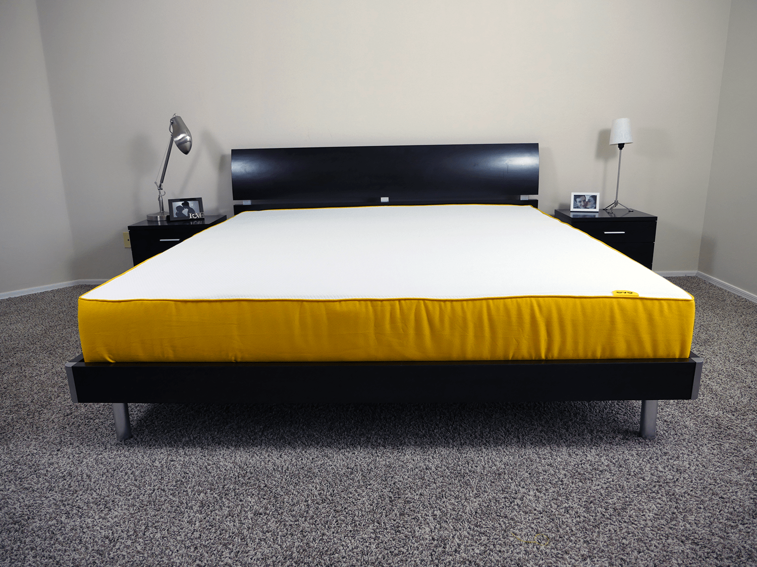 Eve mattress, King size, platform slat bed