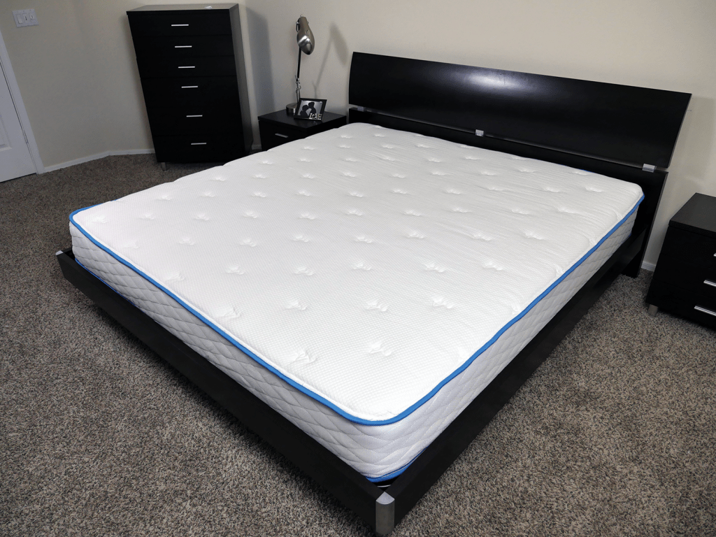 Angled view of the Arctic Dreams mattress