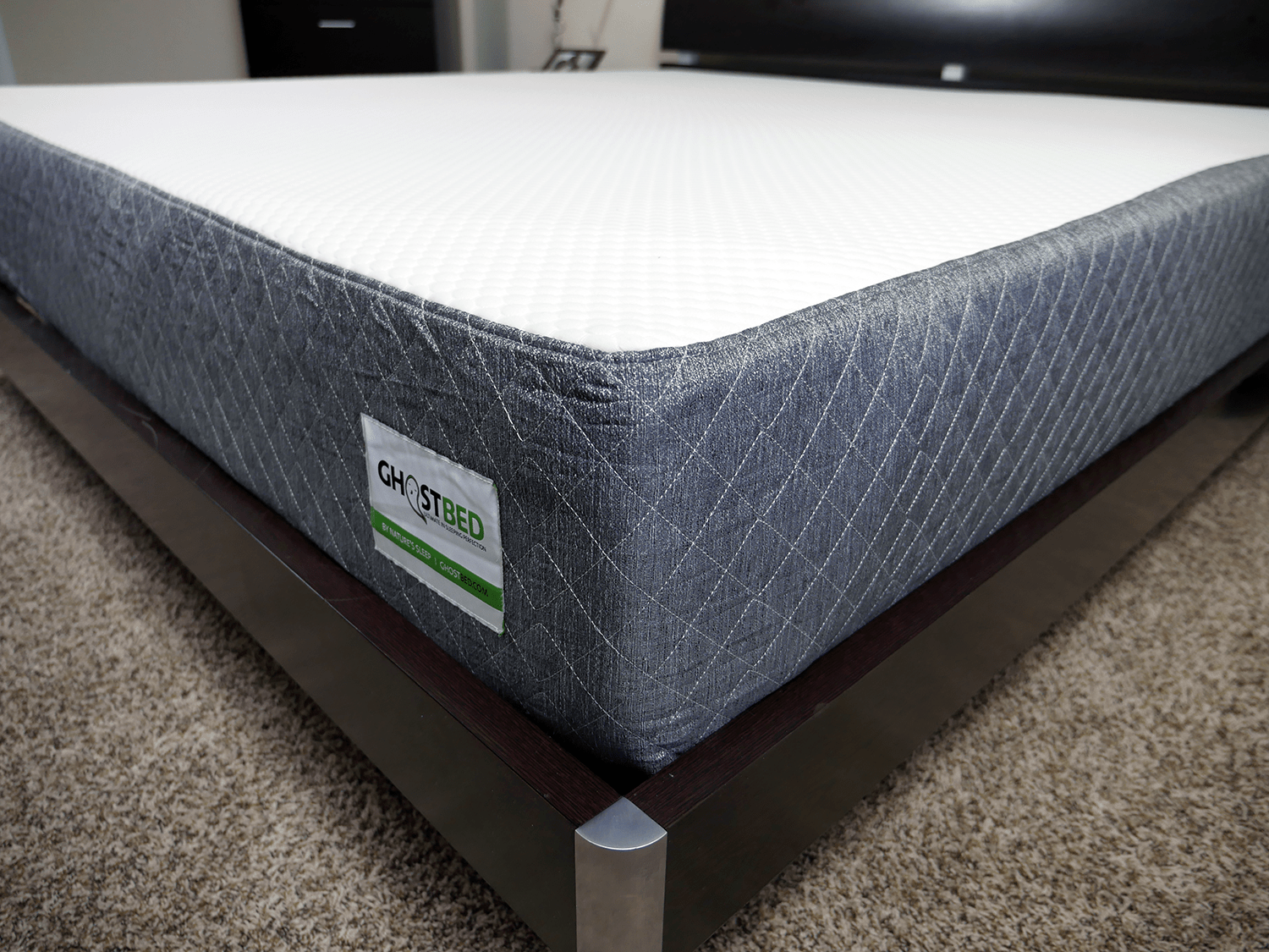 Close up shot of the GhostBed mattress cover
