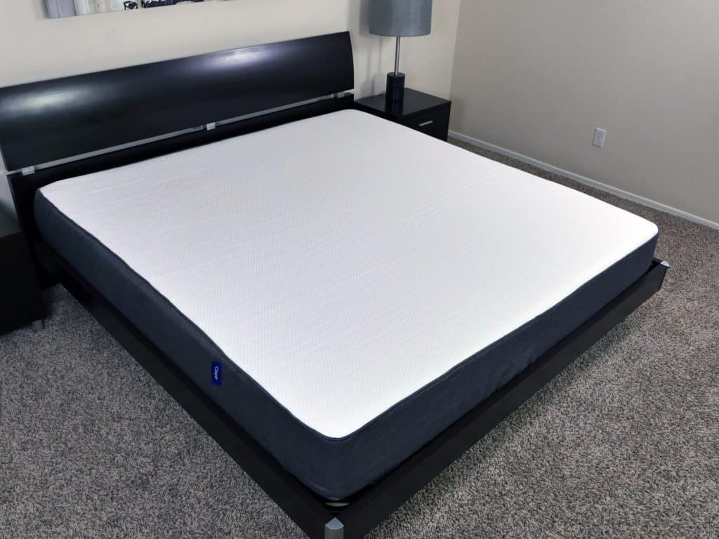 Casper mattress angled view