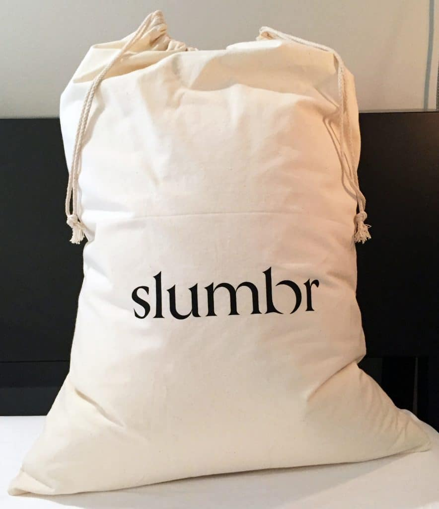 New Slumbr pillow bag packaging