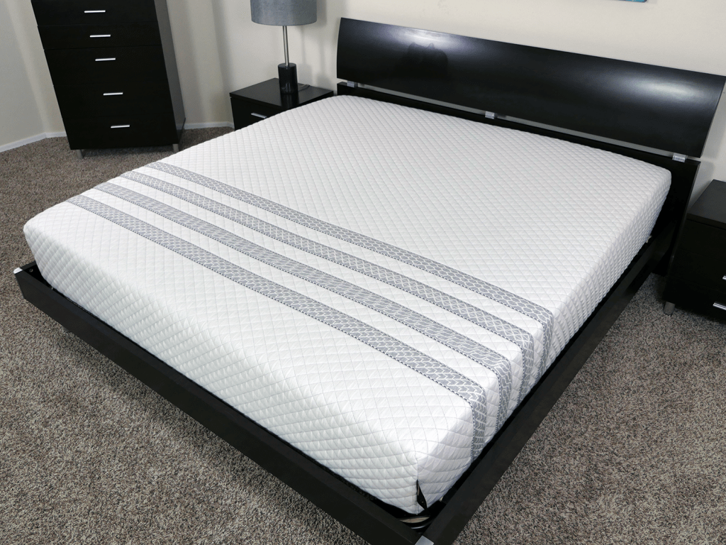Angled view of the Sapira mattress