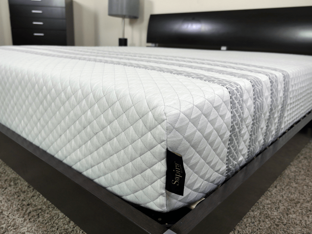 Close up shot of the Sapira mattress cover