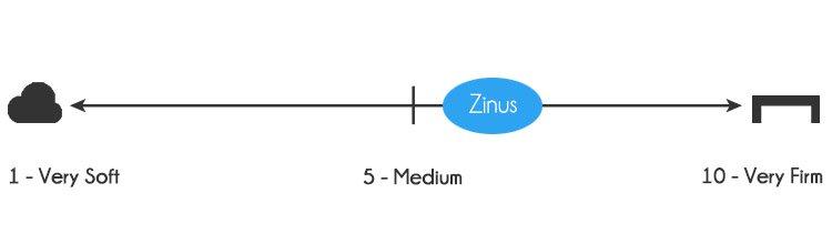 Zinus memory foam mattress firmness - 6 out of 10
