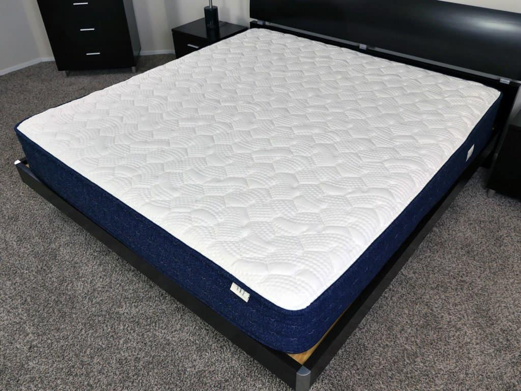 Angled view of the Brentwood Home Avalon mattress