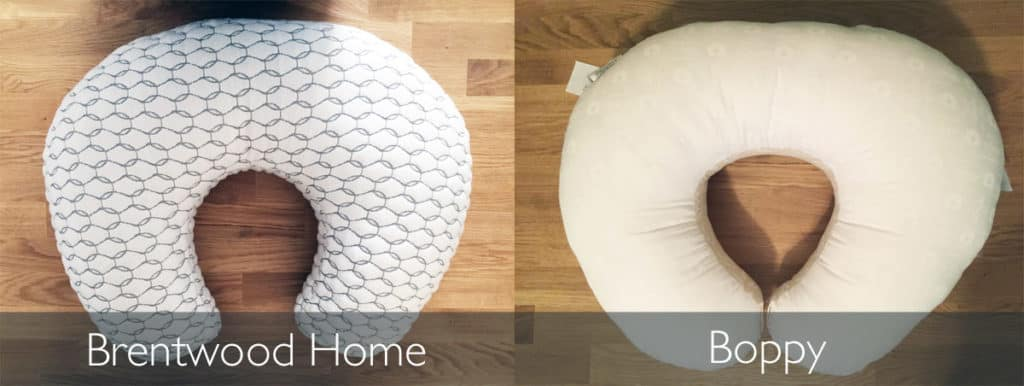 Brentwood Home's Honeysuckle vs. Boppy nursing pillow