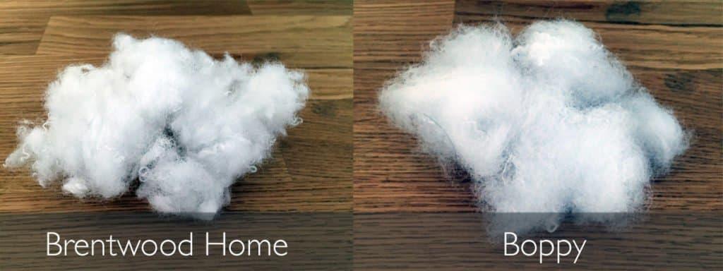 Brentwood Home Honeysuckle vs. Boppy fiber fill