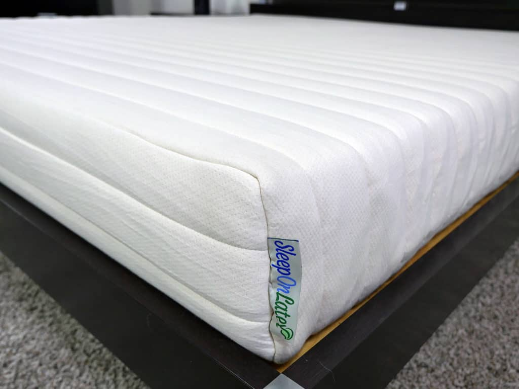 Close up shot of the SleepOnLatex mattress cover