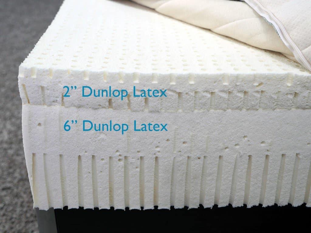 """SleepOnLatex mattress layers (top to bottom) - 2"""" Dunlop latex, 6"""" Dunlop latex"""