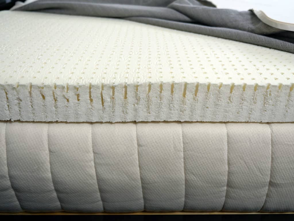 Ultra close up shot of the Dunlop latex used inside of the SleepOnLatex mattress topper