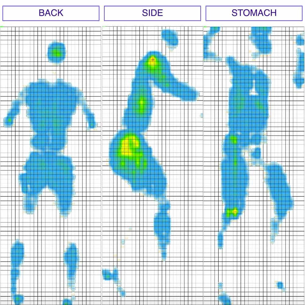 Nest - Love & Sleep Mattress Pressure Map