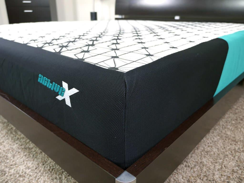 Close up shot of the ActiveX mattress cover