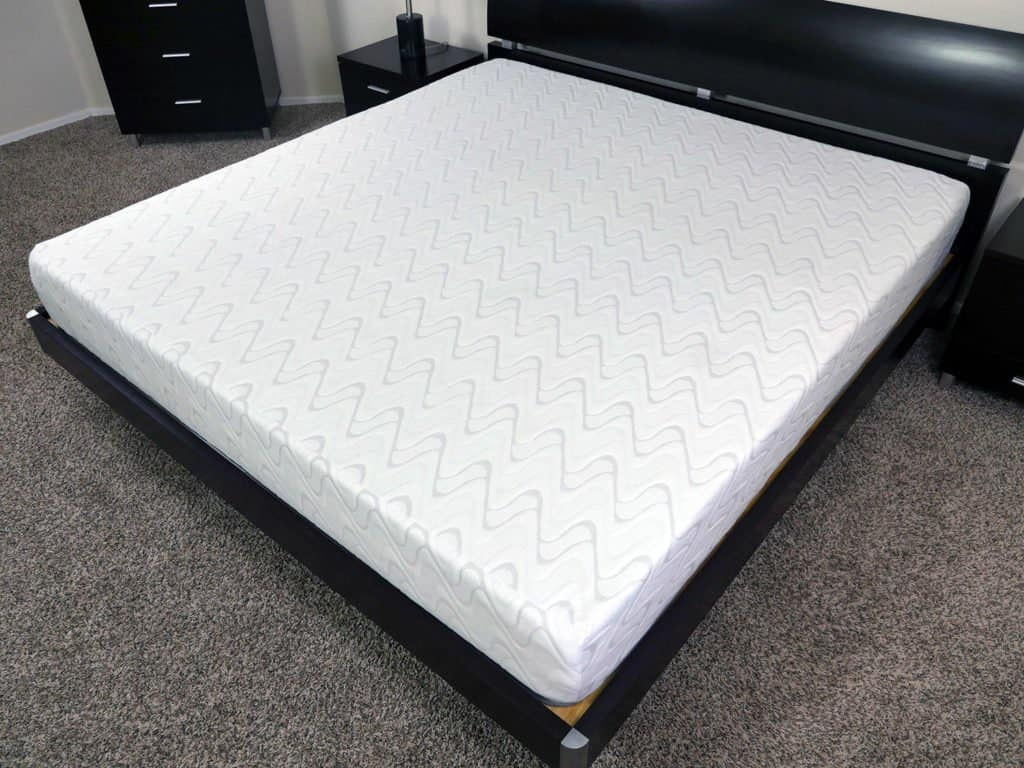 Angled view of the Love & Sleep mattress