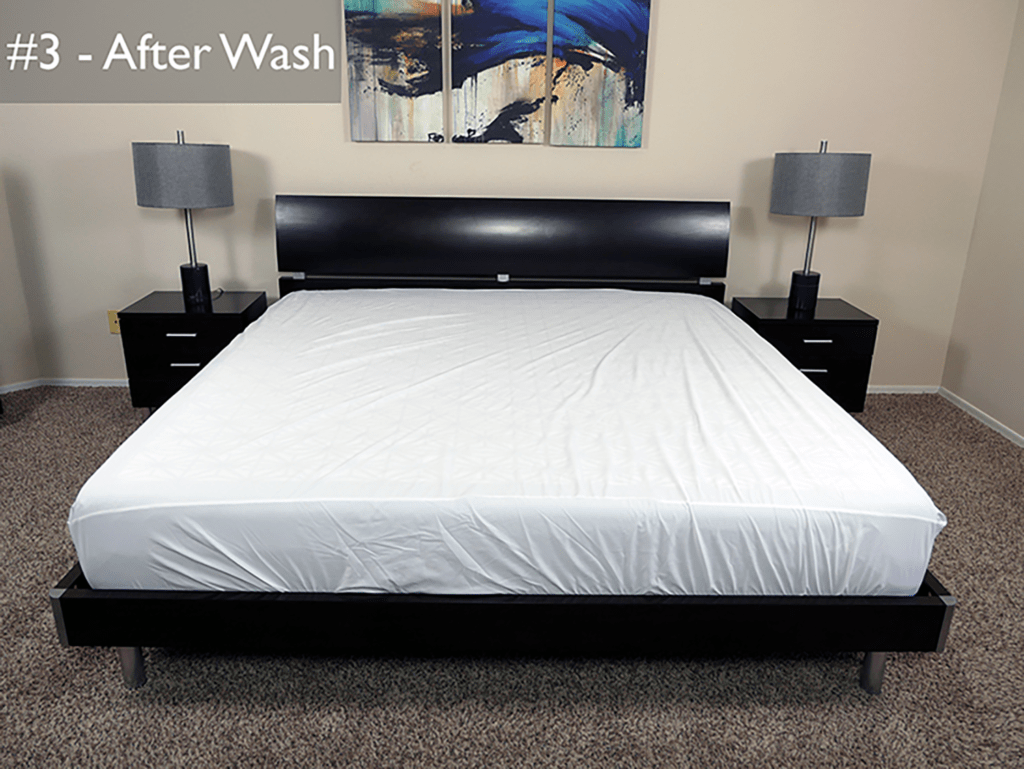 Test #3 - the Purple mattress after a normal wash / dry cycle