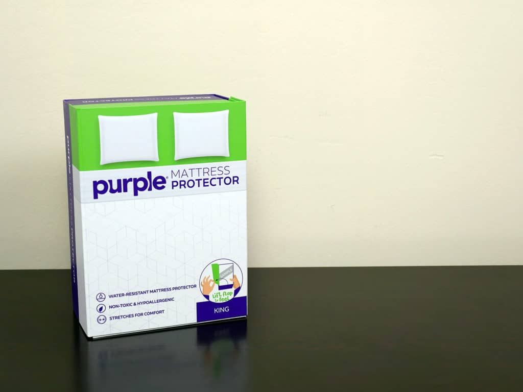 Purple mattress protector - King size