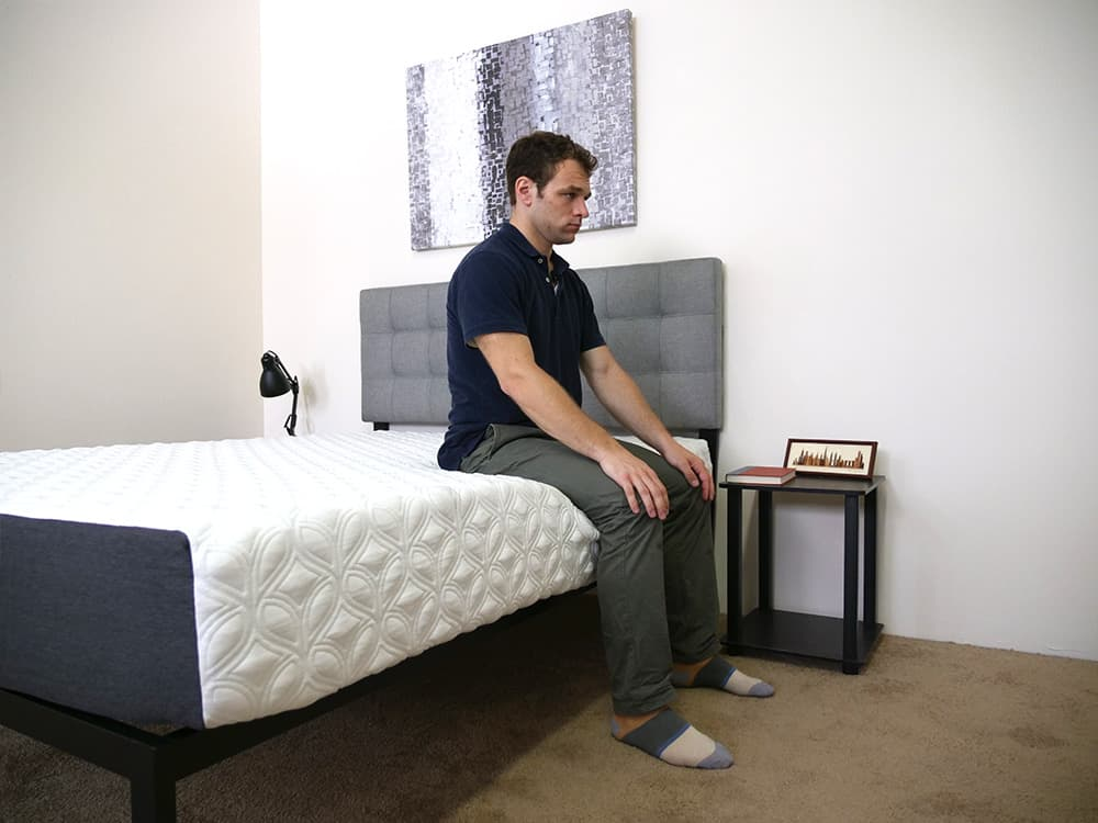 Cocoon-Mattress-Edge-Support-Sitting-Corner-Shot Cocoon Mattress Review
