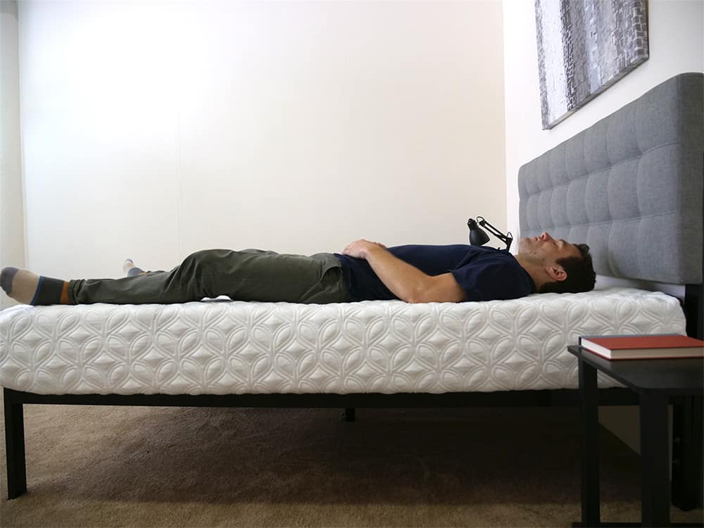 Cocoon Mattress Laying Side Even