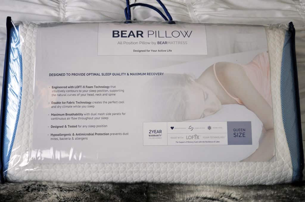 bear pillow packaging