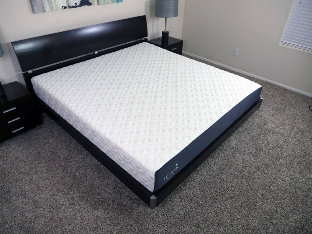 Sealy Cocoon mattress, angle d view