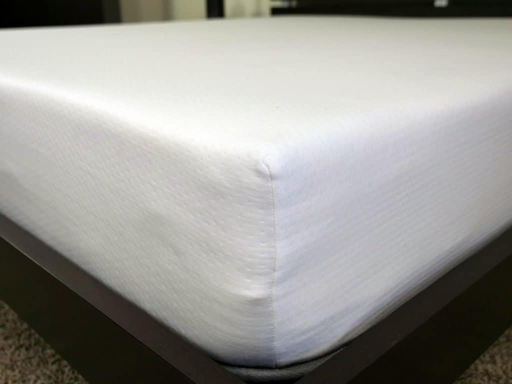 Close up shot of the Eight sleep mattress cover