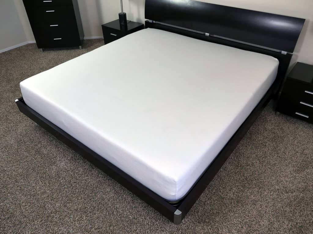 Angled view of the Eight Sleep mattress