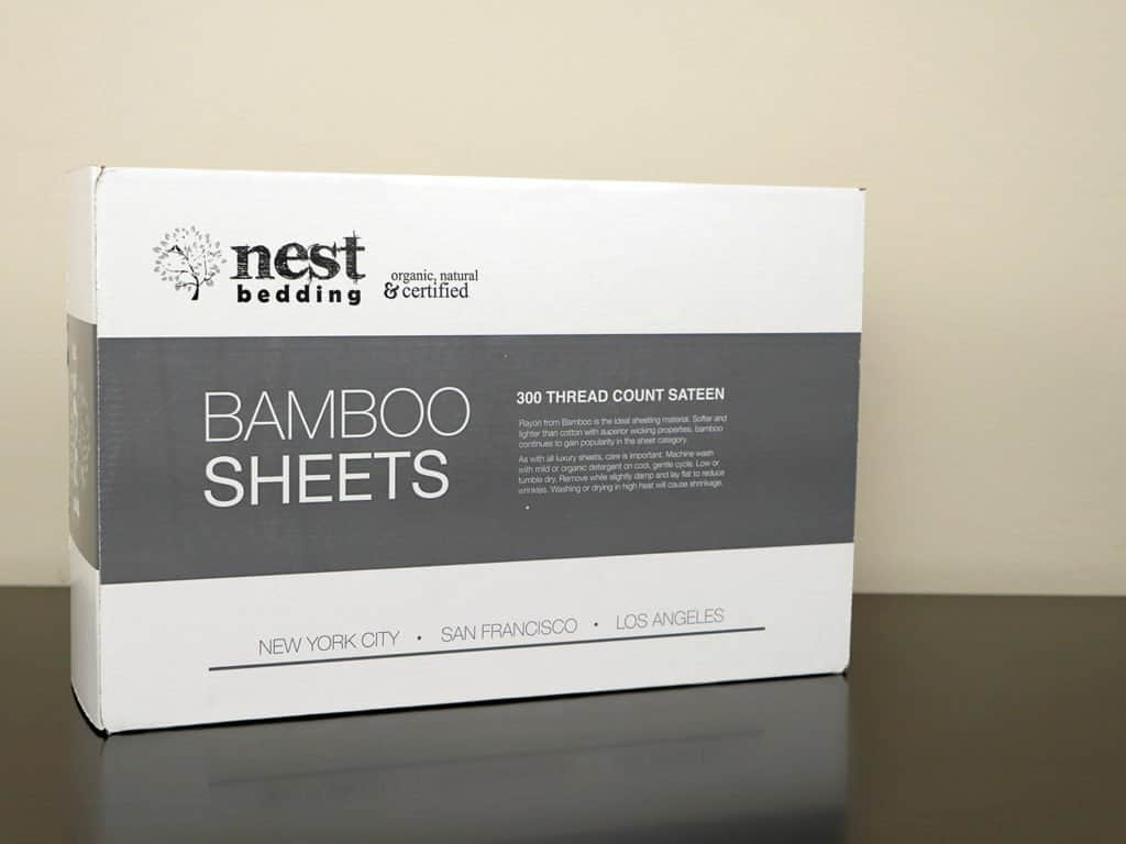 Nest Bedding bamboo sheets packaging