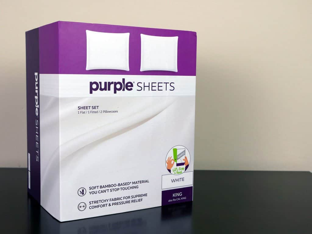 Purple sheets - new in box packaging