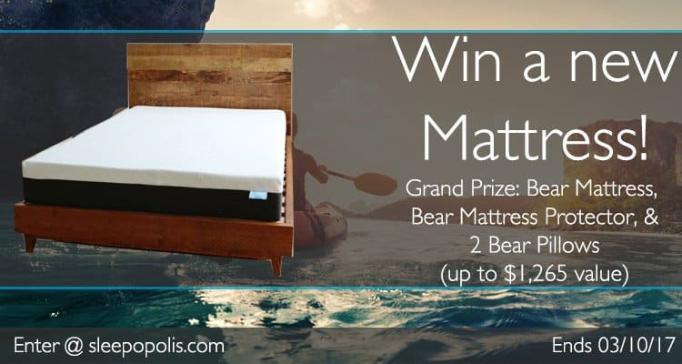 Enter today for your chance to win a new Bear mattress, Bear mattress protector, and two Bear pillows!