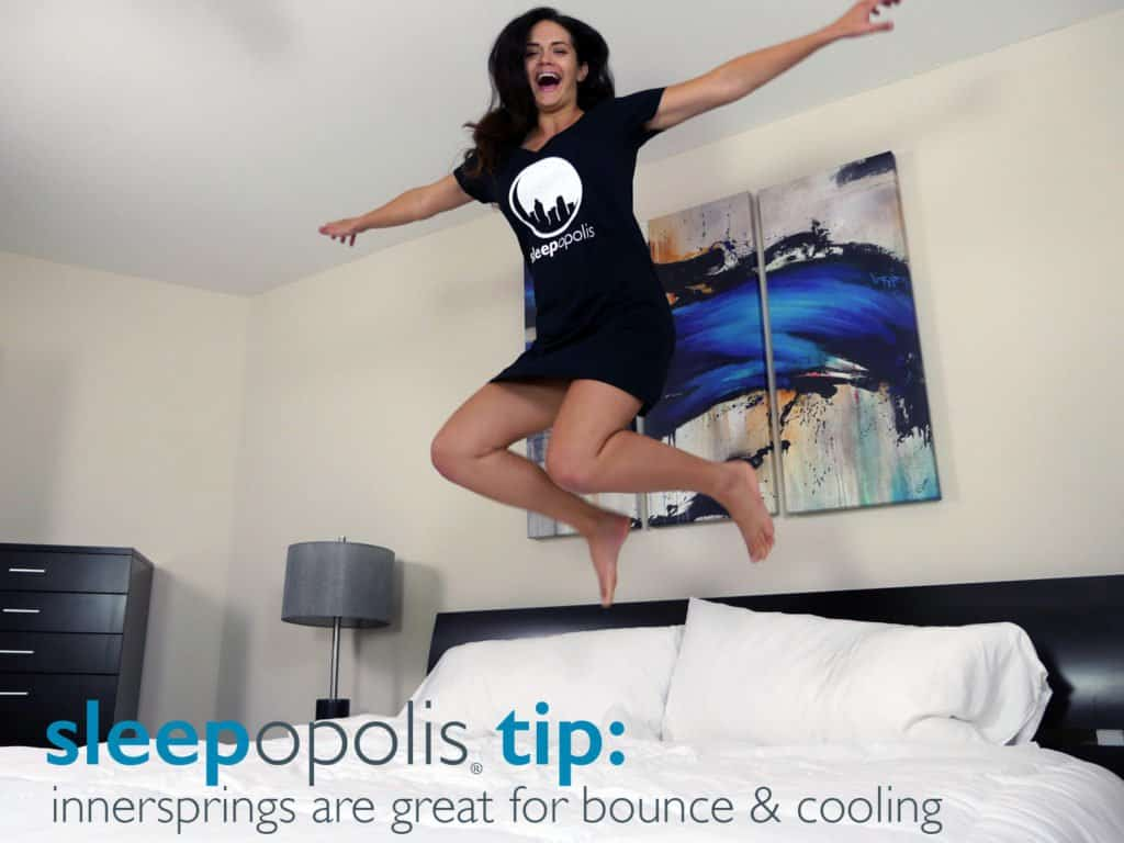Innerspring mattresses offer great bounce, cooling, edge support, and a classic feel