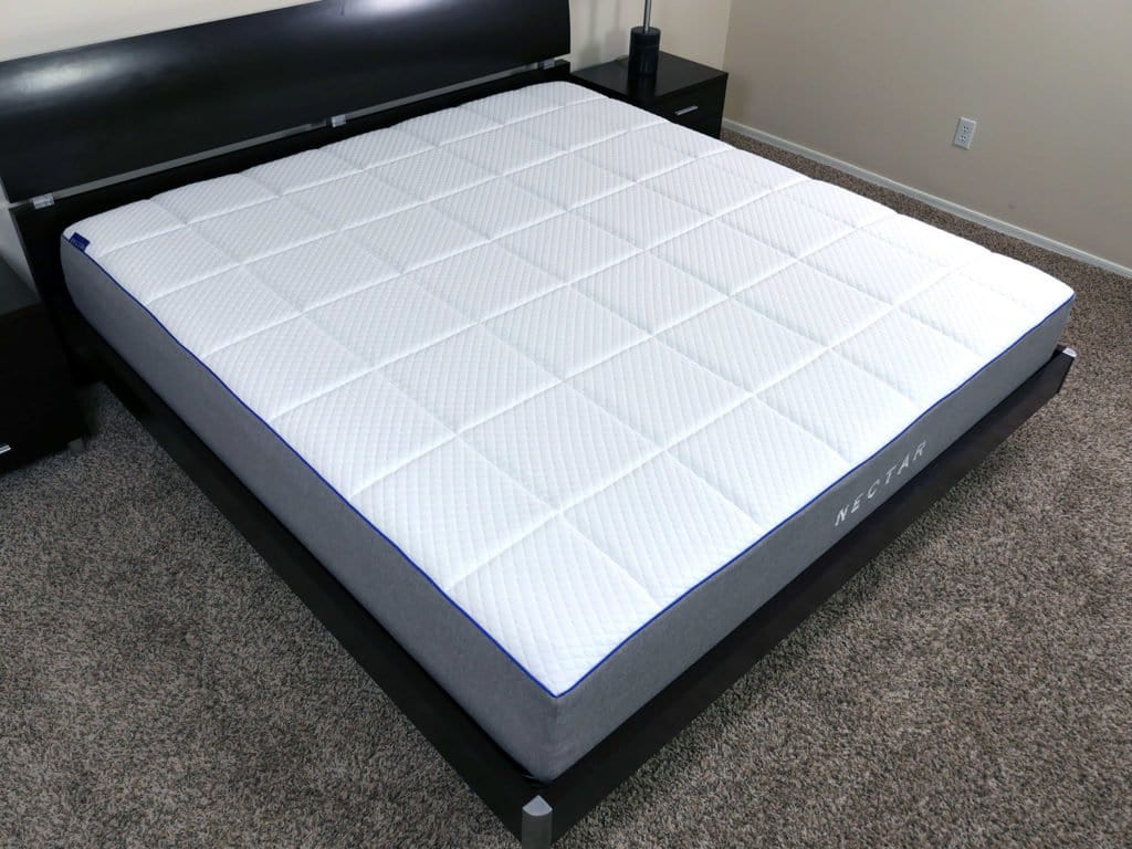 angled view of the nectar mattress - Best Foam Mattress