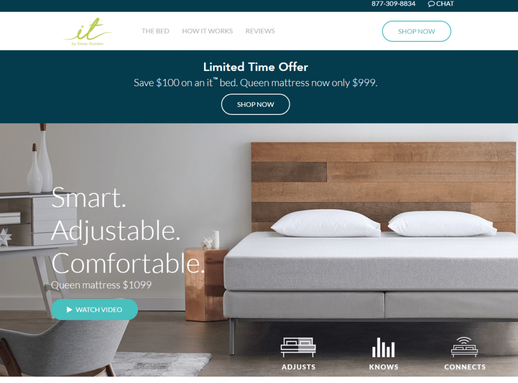 SleepNumber.com - featuring their IT bed.