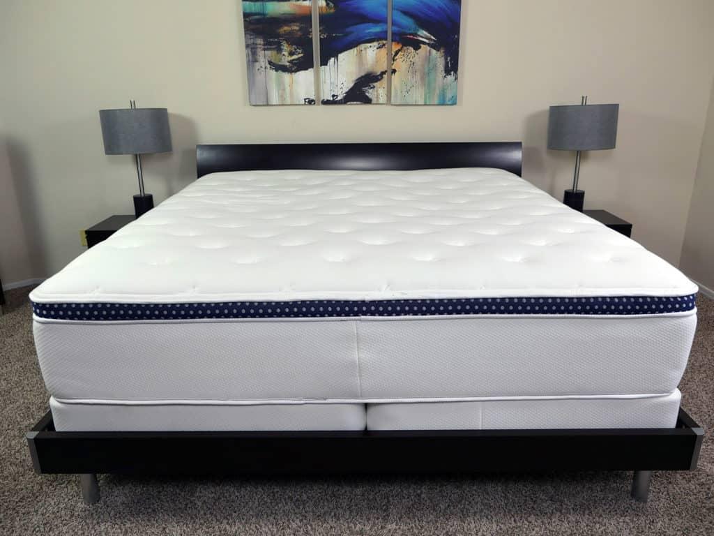 WinkBeds coolControl mattress and base