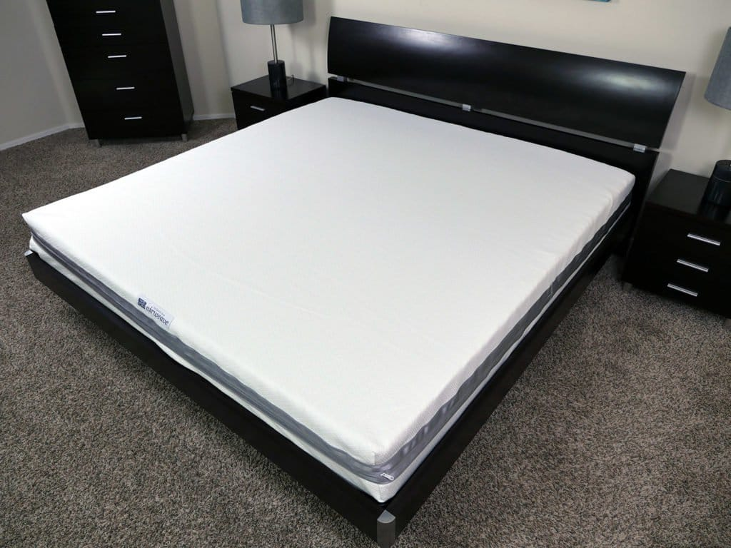 Angled view of the Airweave mattress