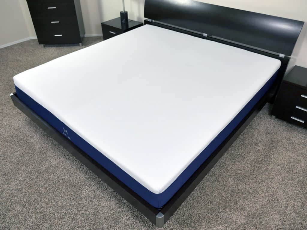 Angled view of the Helix mattress