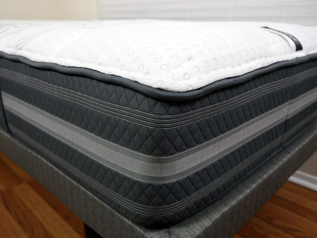 Close Up Shot Of The Beautyrest Black Desiree Mattress Cover