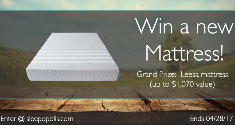 Enter today for your chance to win a new Leesa mattress!