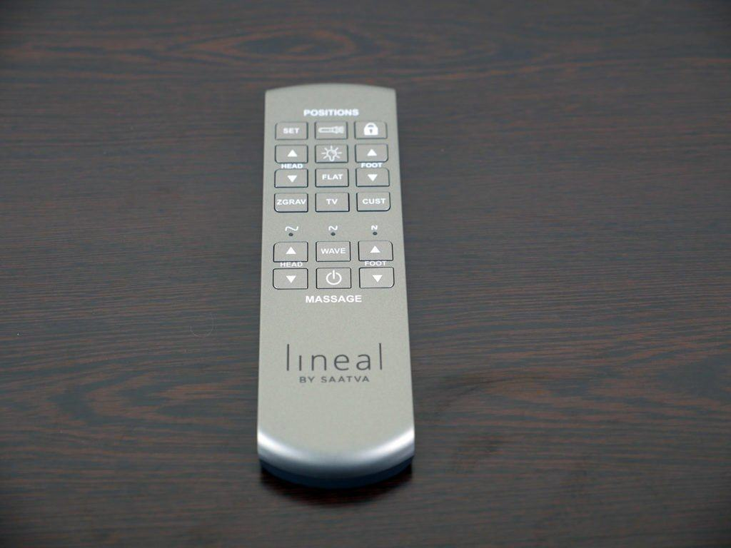 Close up shot of the Lineal remote