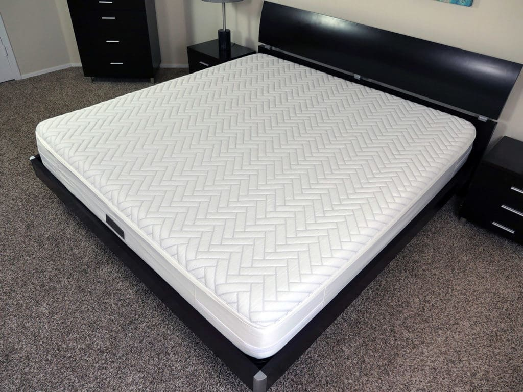 Angled view of the Wright mattress