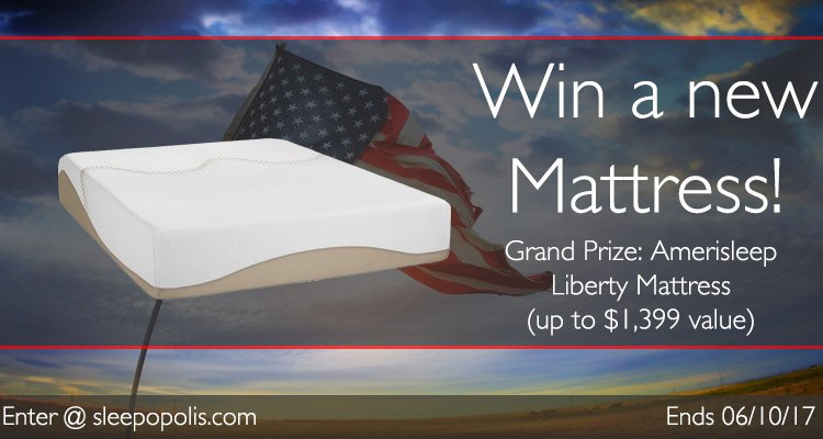 Enter today for your chance to win a new Amerisleep Liberty mattress