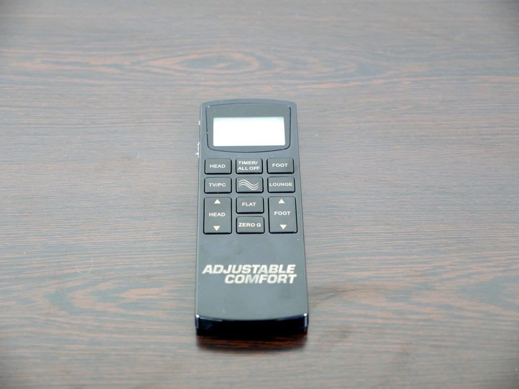 Close up shot of the Classic Brands adjustable bed remote