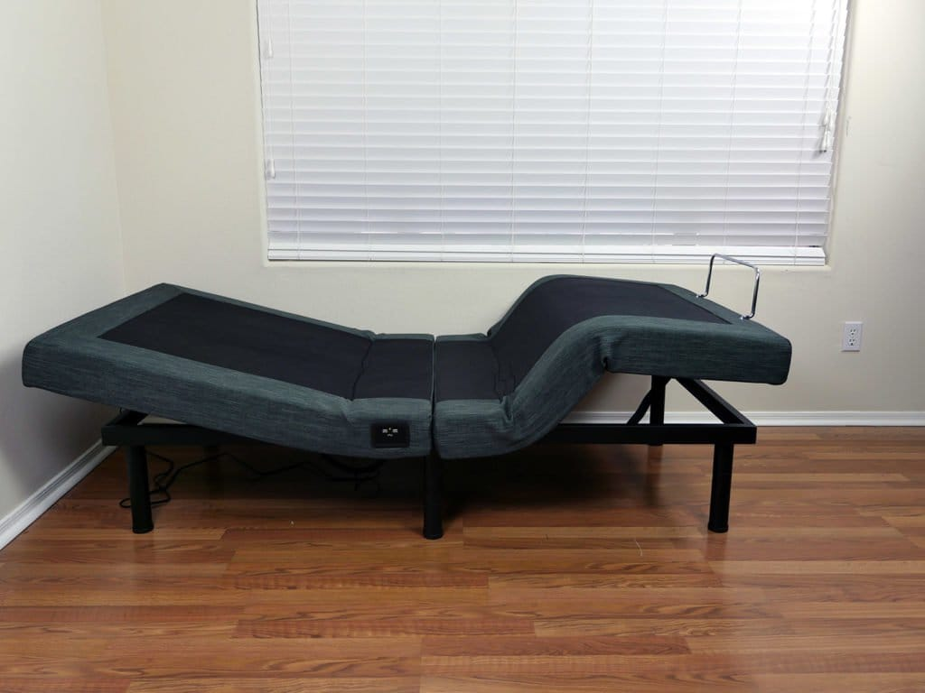 Classic Brands Adjustable Bed in the zero gravity position