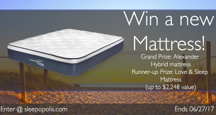 Enter today for your chance to win a new Nest Bedding Alexander hybrid mattress
