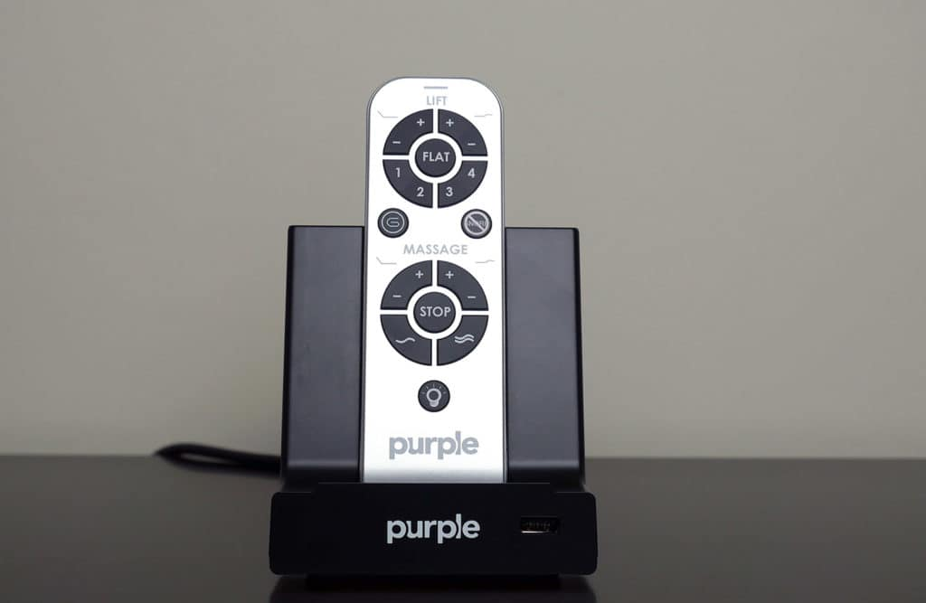 Purple Power Base remote and stand